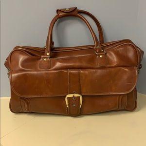 Vintage Sears Bag Luggage Retro Overnight Bag